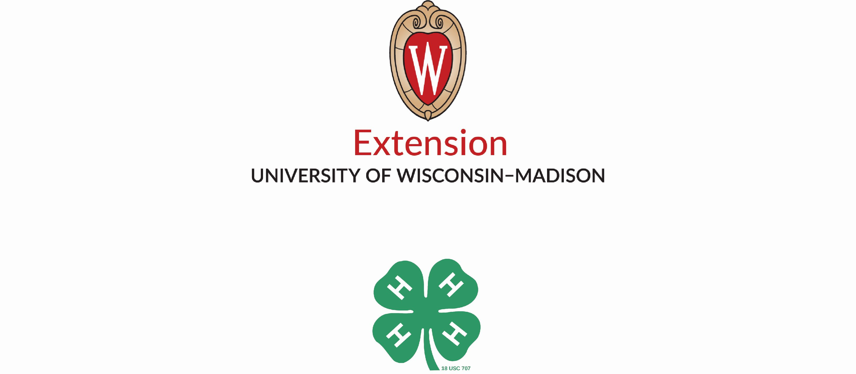 4-H and UW-Extension Co Branding logo vertical