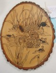 Duck wood carving