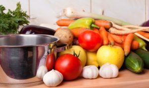 vegetables for preparing food