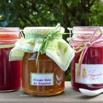 Jars of home-canned jellies