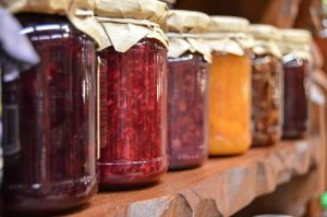 jars of home-canned foods
