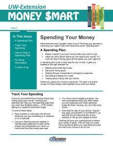 Money Smart newsletter: Spending Your Money