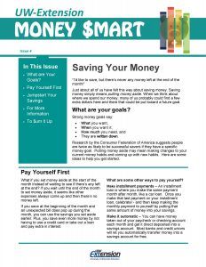 Money Smart newsletter: Saving Your Money