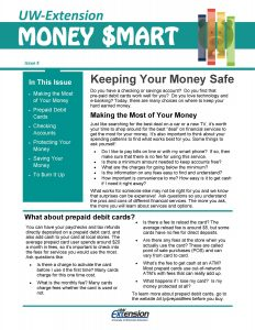 Money Smart newsletter: Keeping Your Money Safe