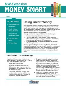 Money Smart newsletter: Using Credit Wisely