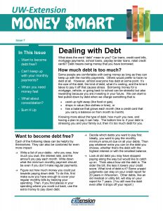 Money Smart newsletter: Dealing with Debt