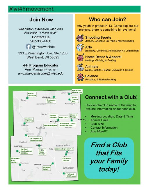 2nd page of WI 4-H Movement Flyer
