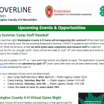 Cover of April 21 Cloverline 4-H Newsletter