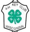 4-H Key Club WI pin