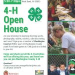 Tuesday Sept 14 5:30-7:30pm Small Animal Barn Wash. County Fair Park 3000 County Hwy PV, West Bend, WI 53095 4-H Open House Are you interested in learning shooting sports, photography, rabbits, robotics, cake decorating, and more? Sign up as a member of Washington County 4-H this year! All Washington County youth from kindergarten to 13th grade are invited to join 4-H. Come and check out all the 4-H activities we'll be offering this year, and learn how you can join Washington County 4-H! Questions? Contact Amy at amy.manganfischer@wisc.edu or call (262) 335-4478 An EEO/AA employer, University of Wisconsin-Madison Division of Extension provides equal opportunities in employment and programming, including Title VI, Title IX, the Americans with Disabilities Act (ADA) and Section 504 of the Rehabilitation Act requirements.